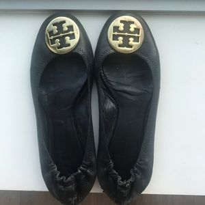 Tory Burch Reva Flats Black
